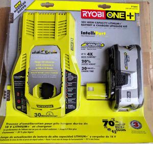 RYOBI 18V 4Ahr Upgrade Kit P1864 brand new sealed package