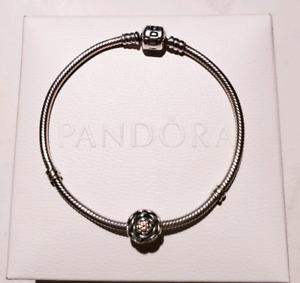 Authentic Pandora 18 cm  bracelet with charm