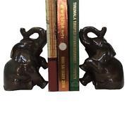 Brass Elephant Bookends