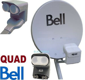 20'' BELL SATELLITE HD DISH WITH DP QUAD LNB & BUILT IN SWITCHES