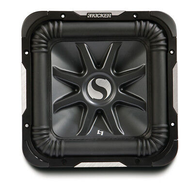 Kicker S15L7 D2 Car Audio Square 15 Inch L7 Dual 2 Ohm 2000 Watt Subwoofer New ()