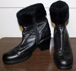 Faux Fur Black Boots Kawartha Lakes Peterborough Area image 1