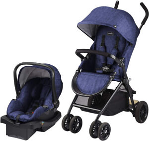 Evenflo Sibby Travel System with LiteMax, Black, Blue