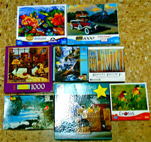 JIG-SAW PUZZLES--8 COMPLETE & EXCELLENT CONDITION