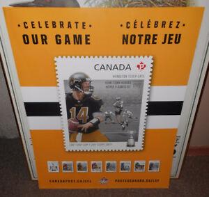 Hamilton Tiger Cat - Canada Post Stamp Display