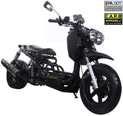 Owner NEW ICE BEAR Original MADDOG 49cc Full Size Motor Bike Gas Scooter Moped 49 50cc