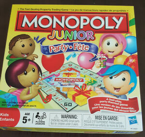 MONOPOLY JUNIOR PARTY BOARD GAME