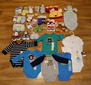 Baby Boy 0 to 6 month - 71 NEW items