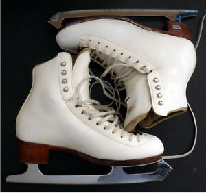 Riedell 875 TS size 6 B-A Figure Skates Protege Ultima Blades 10