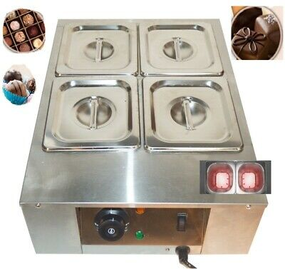 High Quality 110v 4 Pan Stainless Steel Chocolate Tempering Melter 1.5l4 Newest