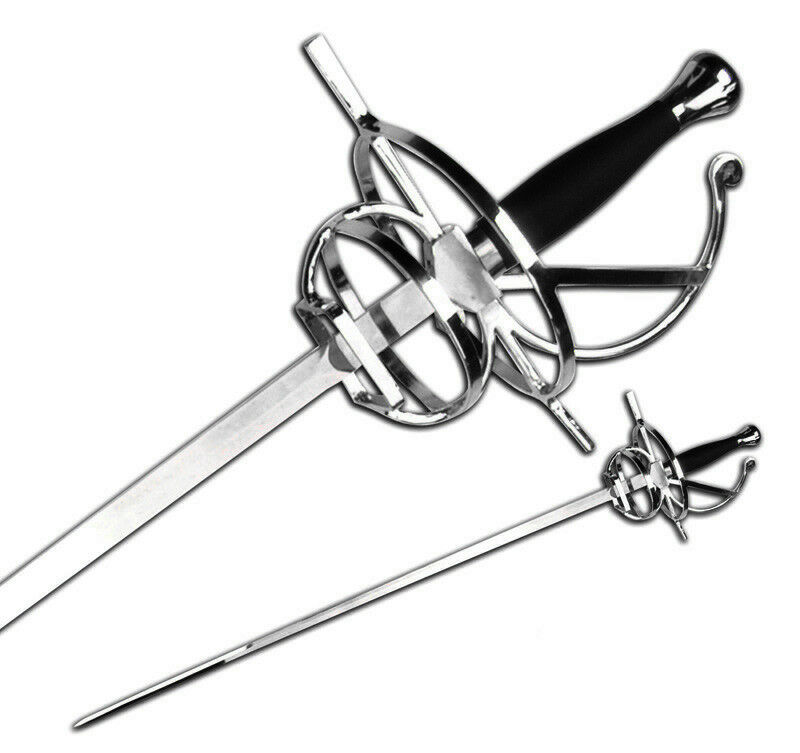 "NEW 48"" Medieval Renaissance Fencing Rapier Sword Chrome Guard Costume LARP"