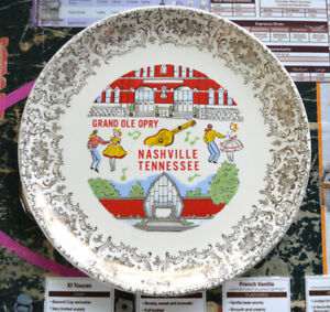 Vintage Grand Ole Opry Nashville Tennessee Decorative Plate
