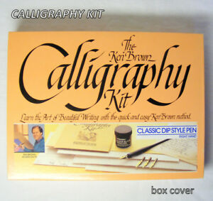 Ken Brown Calligraphy Kit, New Classic Dip Pen – right hand