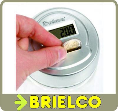 HUCHA ELECTRONICA CON CONTADOR DIGITAL DE MONEDAS 0,01E A 2 EURO AHORROS BD3492