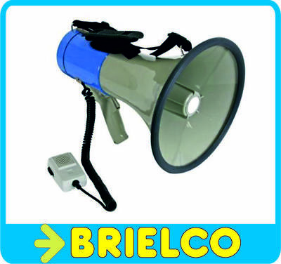 MEGAFONO 25W SIRENA Y MICROFONO MANO PILAS-MECHERO AUTO BD3323