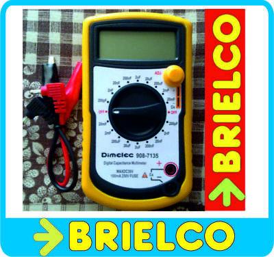 CAPACIMETRO DIGITAL PROFESIONAL ESCALAS 200pF A 20000uF PROTECTOR Y ATRIL BD6581