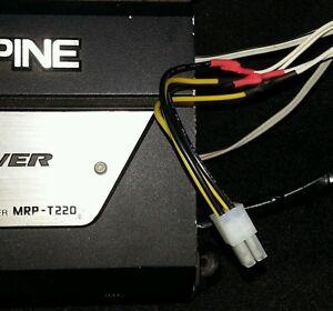 alpine 4 pin 2 channel speaker high level input cable amp. Black Bedroom Furniture Sets. Home Design Ideas