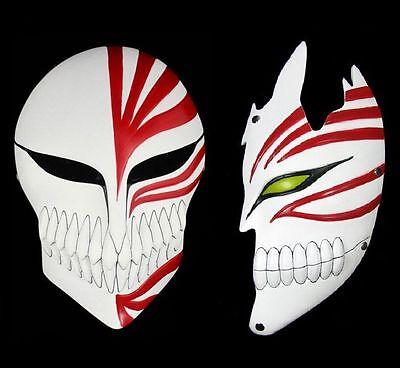 Japan Anime Bleach Ichigo Kurosaki Cosplay Half / Full Hollow Halloween Mask