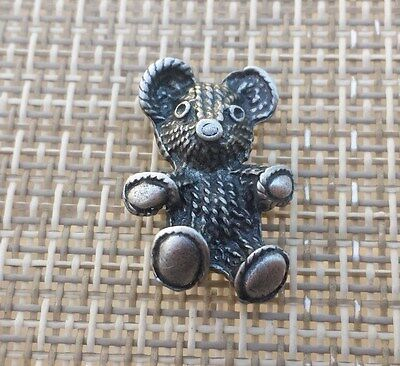 ZOO ANIMAL 1 TEDDY BEAR PEWTER PIN All New.