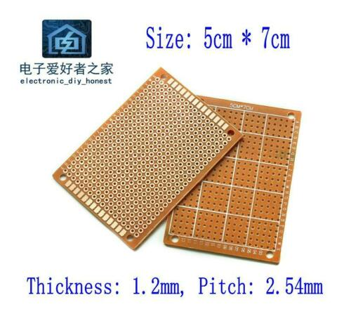20PCS 5cm*7cm Prototyping PCB Printed Circuit Board Prototype Breadboard