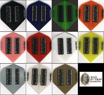 6 Pack Of Pentathlon Hd150  Dart Flights  Standard 150 Microns Thick  6 Sets