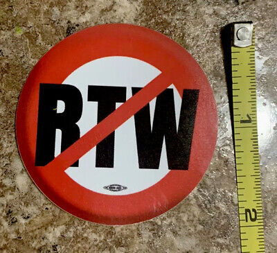 Union 2 Vinyl Hard Hat Sticker Anti Right To Work Rtw Ironworkers