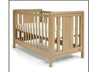Mamas & Papas Bundle - Crib/Bed, Table Cabinet, SilentNight Deluxe Premier Mattress & Bedding