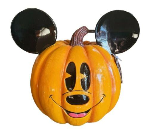 Disney Halloween Sitabout Mickey Mouse Poly Resin Orange Pumpkin New 2021 Decor