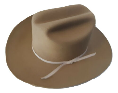 Stratton Brown Felt Cowboy Western Hat CUS7105 Size 7 BRAND NEW