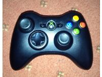 4 XBOX 360 BLACK WIRELESS CONTROLLERS