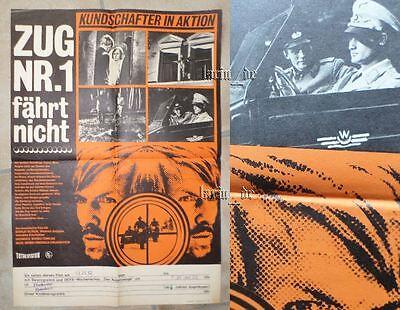 DDR Plakat Poster v. 1973 UdSSR Film WWII ZUG NR.1  2. Weltkrieg Kundschafter