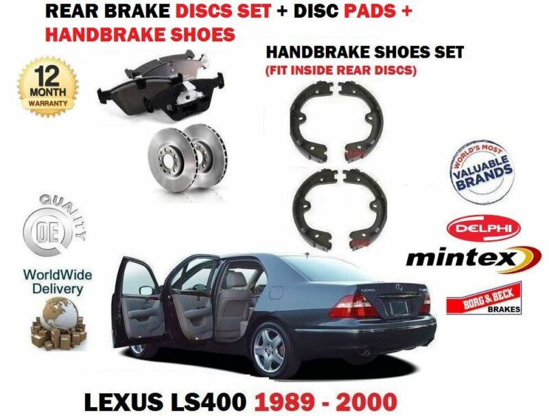 FOR LEXUS LS400 4.0 1UZ-FE 1989-2000 REAR BRAKE DISCS SET + PADS + SHOES KIT