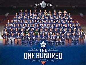 "NEW TORONTO MAPLE LEAFS POSTER 18""x24"" - 100 GREATEST PLAYERS ANNIVERSARY POSTER - CANADIAN TIRE 103776685"