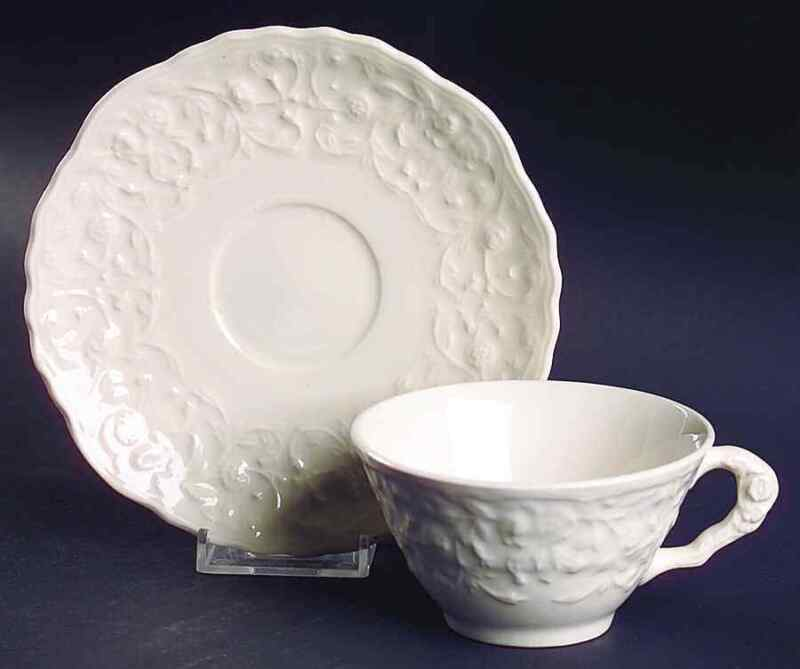 Steubenville ROSE POINT Cup & Saucer 1349297
