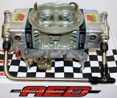 Holley 950 HP Double Pumper Carburetor by AED with Fuel Line Kit