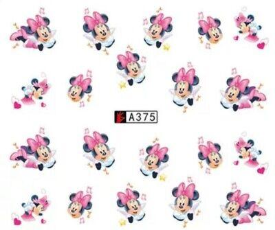 20 Nagelsticker Nagel Tattoos Maus Mouse Cartoon Comic Minnie Micky Nail Sticker ()