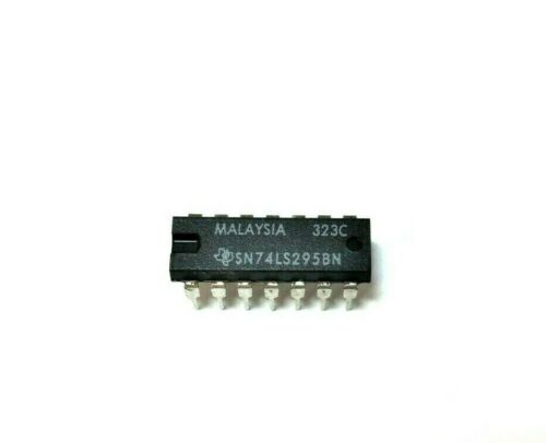 TI SN74LS295BN - 4−Bit Shift Register With Tri−State Outputs TTL IC, NOS