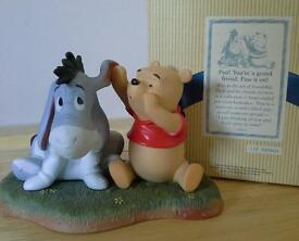 Pooh & Friends Disney figurine - psst your a grand friend pass it on