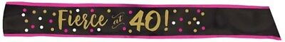 OVER THE HILL HOT PINK AND GOLD 40th BIRTHDAY SASH ~ Party Supplies Favors Adult - Hot Pink Party Supplies