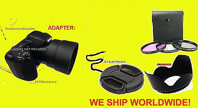 Lens Adapter+filter Kit+hood+cap 67mm To Camera Nikon Coo...