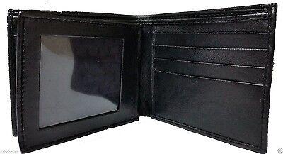 Men Leather Bifold Slim Wallet 12 Credit Card One Id Window 2 Bills Sections