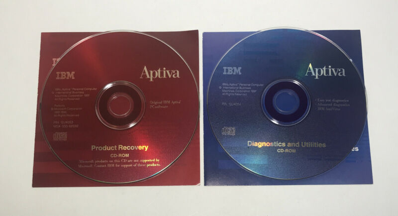 CD-ROM Set for IBM Aptiva Computer Applications Recovery Guide