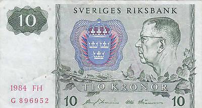 Geldschein Schweden 10 Krone Tio Kronor