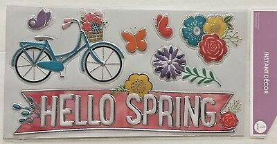 Spring Bicycle flower Butterfly wall mirror window decal teacher supply (Mirror Wall Fountain)