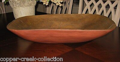 HUGE RED DOUGH BOWL~Table Centerpiece~Primitive/French Country Decor*Wood Style - Country Style Table Centerpieces