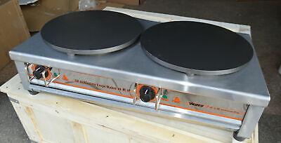 220v Electric Crepe Maker Double-burner Pancake Making Machine Crepe Griddle