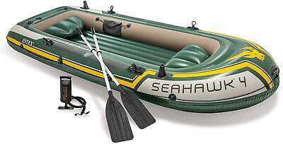 INTEX Seahawk 4 Inflatable Rafting/Fishing Boat Set 68351EP