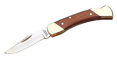 (SCHRADE KNIVES LB3 ROSEWOOD HANDLED BROWN BEAR SMALL  LOCKBACK KNIFE GREAT SALE)