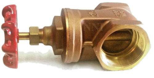 "2-1/2"" Female NPT X Male  NST BRASS HYDRANT GATE VALVE 200 PSI"