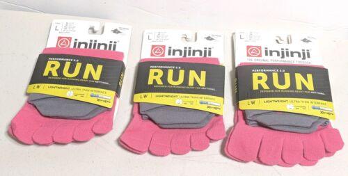 Lot of 3 Injinji Toe Socks No Show Lightweight Performance 2